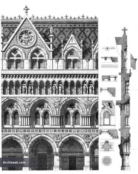 via Archiseek: http://archiseek.com/2011/1867-%E2%80%93-design-for-royal-courts-of-justice-london/#.VAByXdq9KSM